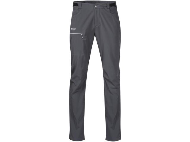 Bergans Slingsby LT Pantalones Softshell Hombre, solid dark grey/white